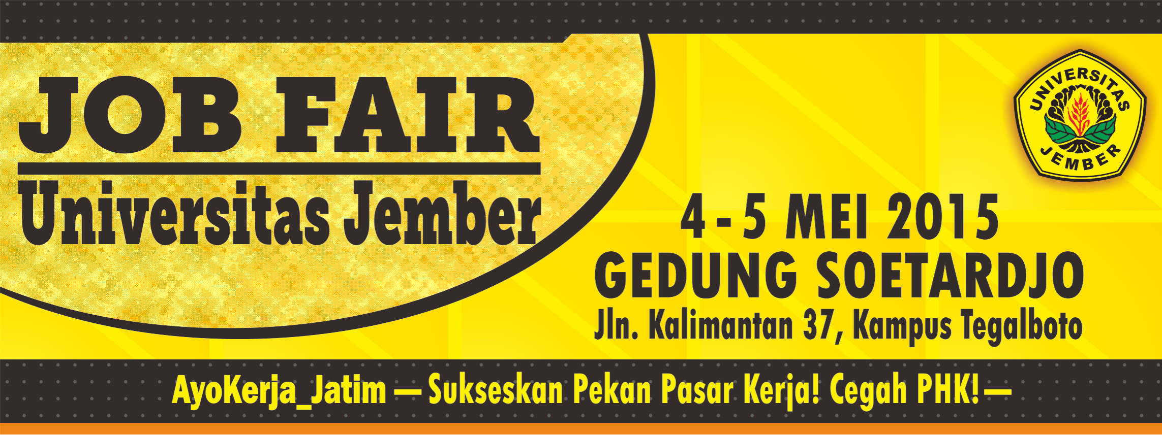 Spanduk Job Fair Sesi I 2015 website