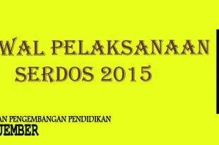 jadwal serdos 2015