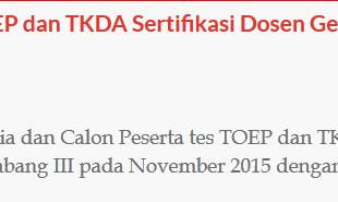 pendaftaran toep tkda serdos gel 3 2015